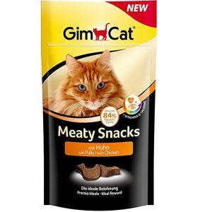 GimCat Meaty Snacks - Softer Katzensnack mit hohem Fleischanteil, Vitaminen und Taurin - 3 Beutel (3 x 35 g)