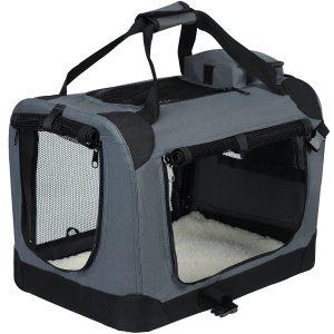 EUGAD Hundebox faltbar Hundetransportbox Auto Transportbox Reisebox Katzenbox EHT465