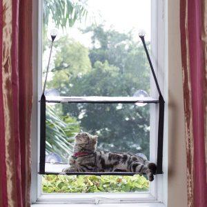 LS Katzen Fensterplätze Hängematte Fenster Katzenbett Bis zu 25kg Stabiler Metallrahmen Haengematten Weiche Betten Matten