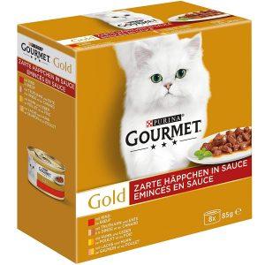 PURINA GOURMET Gold Zarte Häppchen in Sauce Katzenfutter nass