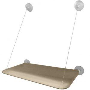 FXY Cat Bed Fenster montiert mit starken Saugnapf & Edelstahl Kabel halten bis zu 20kg