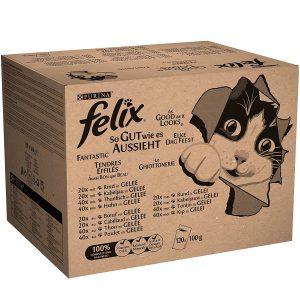 Felix Katzennassfutter So gut wie es aussieht 120er Multipack (120 x 100g)