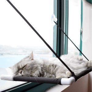 Premium Fensterplatz für die zufriedene Katze Katzenliege Mausblick 360°