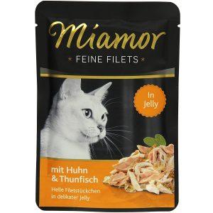 Miamor Katzenfutter Feine Filets Huhn & Thunfisch 100 g, 24er Pack