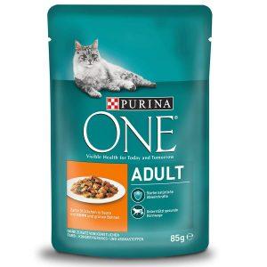 PURINA ONE Adult Katzenfutter nass, zarte Stückchen in Sauce, verschiedene Sorten