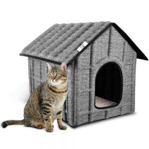 PUPPY KITTY Katzenhaus für Katzen Winterfest Katzenhöhle Faltbar